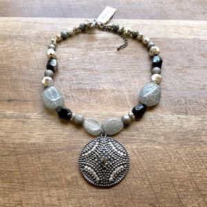 Style & Co Beaded Gem Statement Necklace